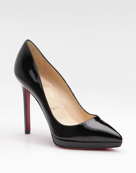 Christian Louboutin Pigalle Plato Patent Leather Platform Pumps in Black - Lyst