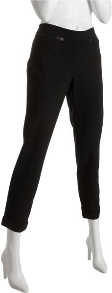Cynthia Steffe Black Wool Blend Melinda Cropped Pants in Black - Lyst