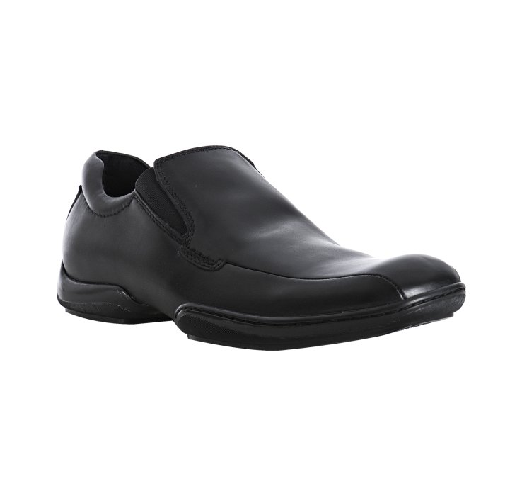 kenneth cole black leather come fly with me loafers in