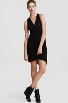 Helmut Lang Sleeveless Slack Jersey Dress - Lyst