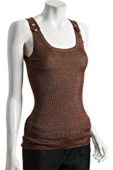 Gucci Copper Space Dyed Sleeveless Sweater Tank - Lyst