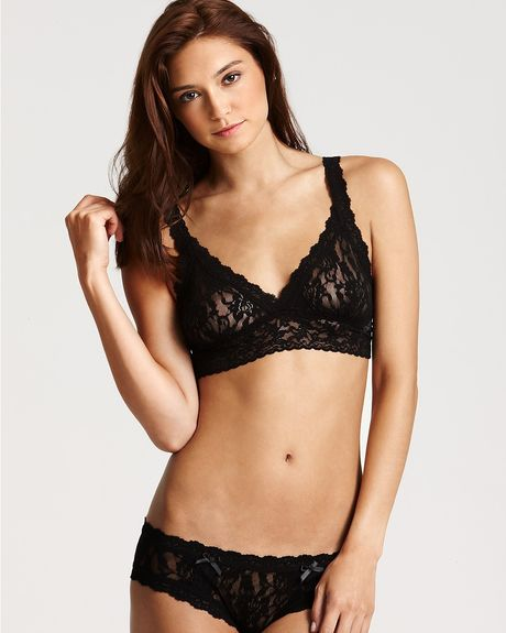 Hanky Panky Signature Lace Crossover Bralette and Hipster in Black - Lyst