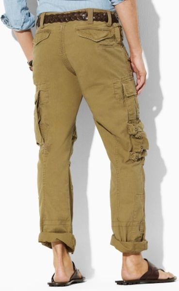 Simple Polo Ralph Lauren Stretch Twill Cargo Pant In Green  Lyst