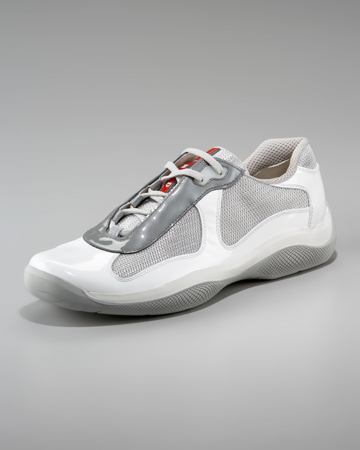 Prada Americas Cup Sneaker White In White For Men Lyst