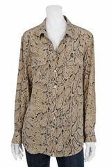 Equipment Snake Print Button-down - Lyst