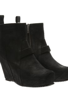 Rick Owens Suede Boots with Concealed Wedge - Lyst