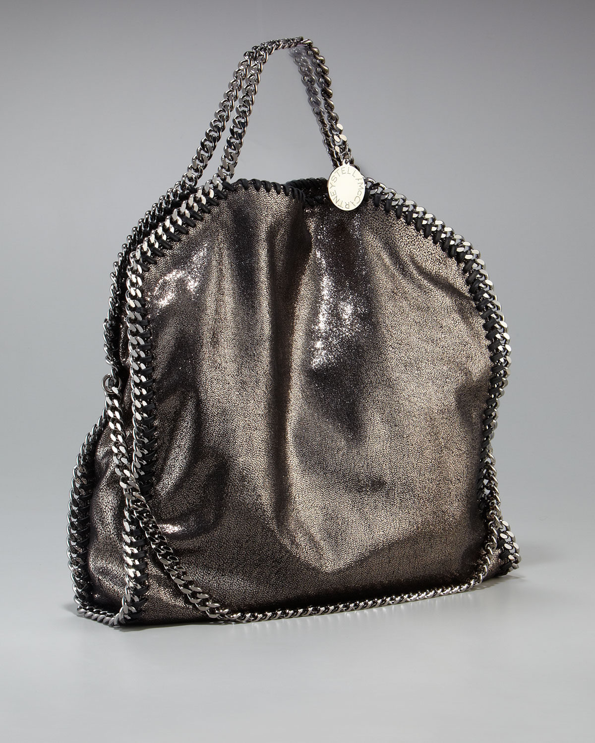 1277c5767307 Lyst - Stella McCartney Falabella Medium Metallic Tote in Metallic