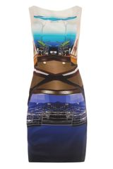 Mary Katrantzou City Scope Print Silk Dress - Lyst