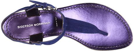Sigerson Morrison Sandals in Blue - Lyst