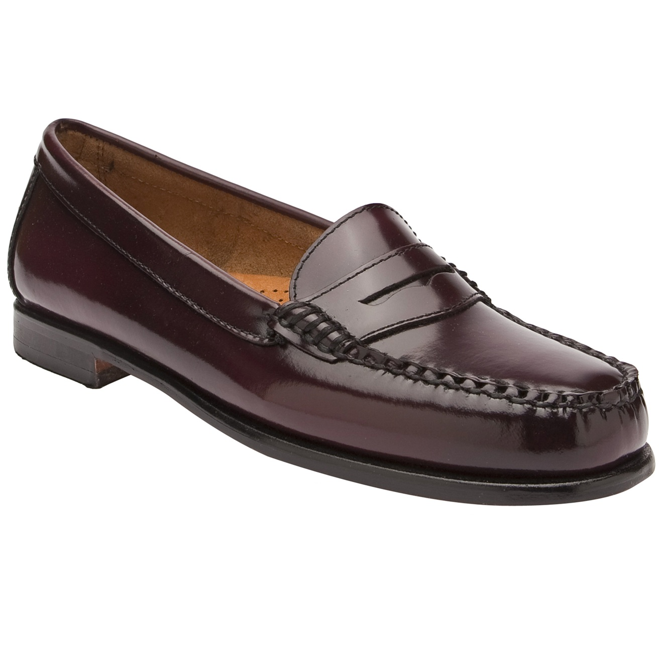 gh bass amp co classic penny loafer in purple burgundy