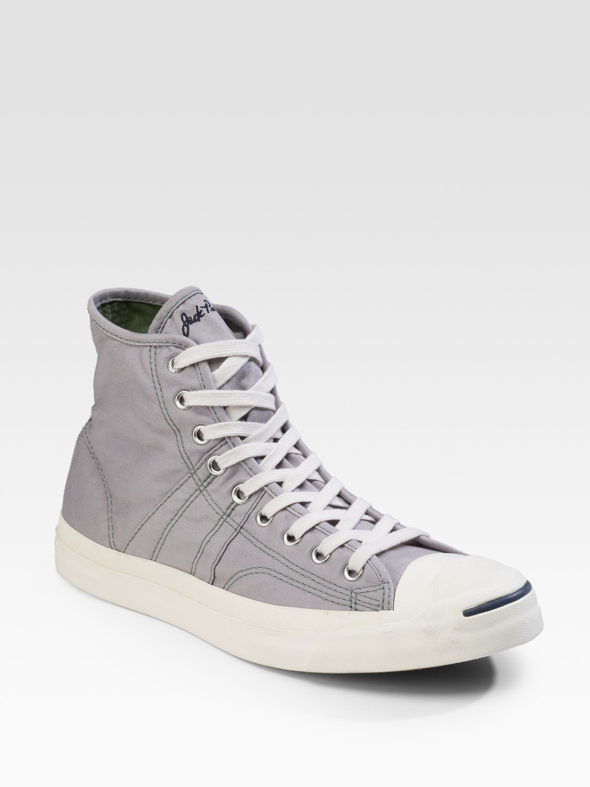 Converse jack purcell johnny high tops in gray for men - Graue converse ...