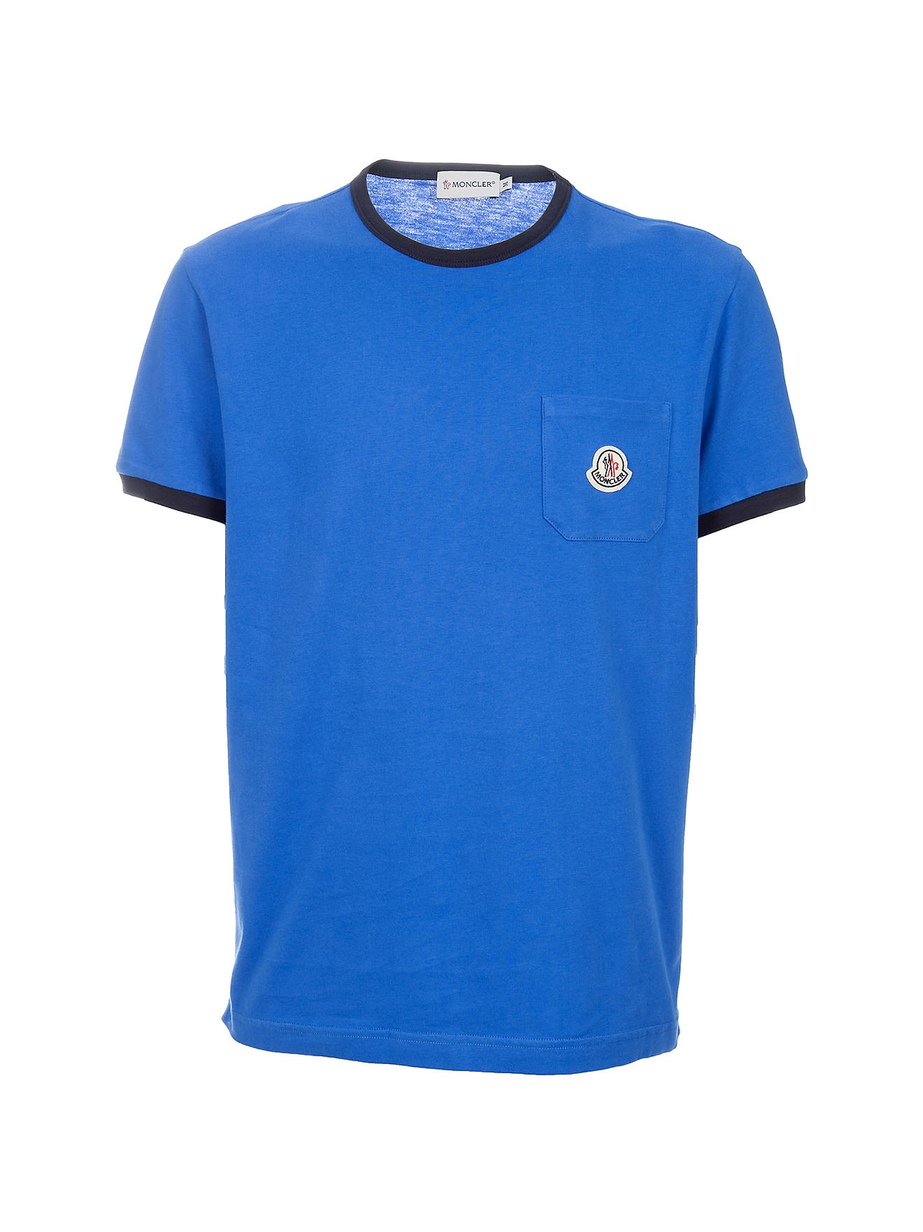 moncler short sleeved t shirt in blue for men lyst. Black Bedroom Furniture Sets. Home Design Ideas