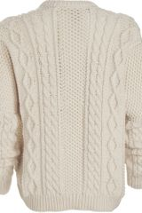 Marc By Marc Jacobs Irish Sweater in Beige (cream) - Lyst