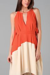 Marc By Marc Jacobs Colorblock Cdc Dress in Orange (red) - Lyst