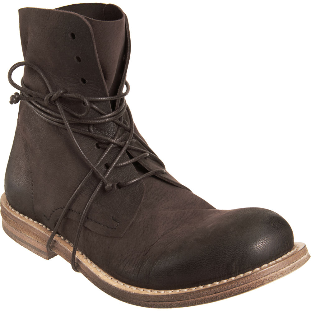 mars 232 ll goccia lace up ankle boot in brown for lyst