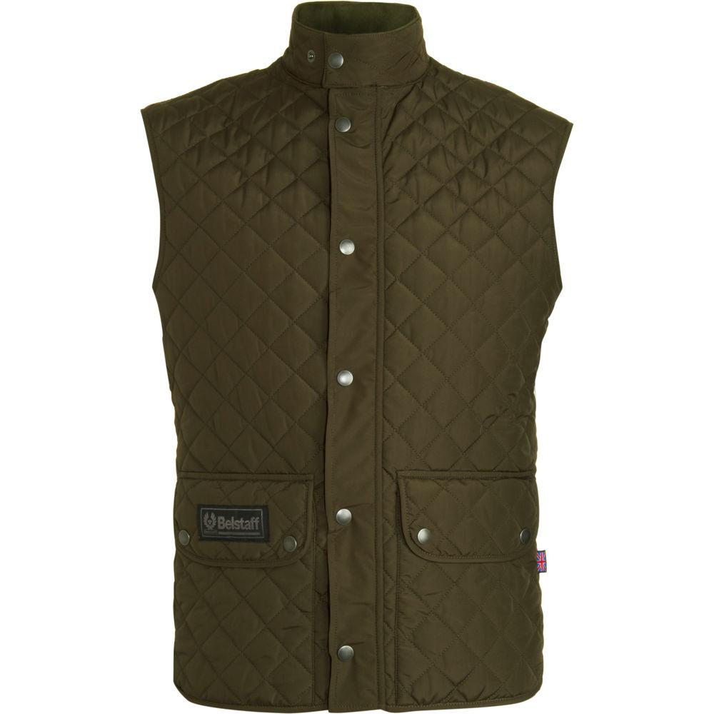 belstaff body warmer waistcoat in brown for men olive lyst. Black Bedroom Furniture Sets. Home Design Ideas