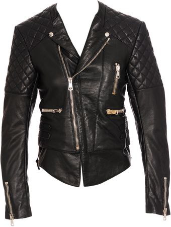Balenciaga Quilted Leather Biker Jacket - Lyst