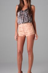 Opening Ceremony Cork Print Shorts in Pink - Lyst