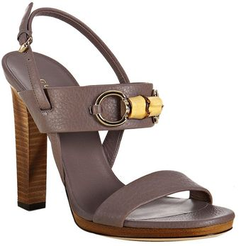 Gucci New Mauve Leather Miss Bamboo Sandals - Lyst
