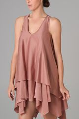 Jen Kao Gleaners Tank Dress in Pink (rose) - Lyst