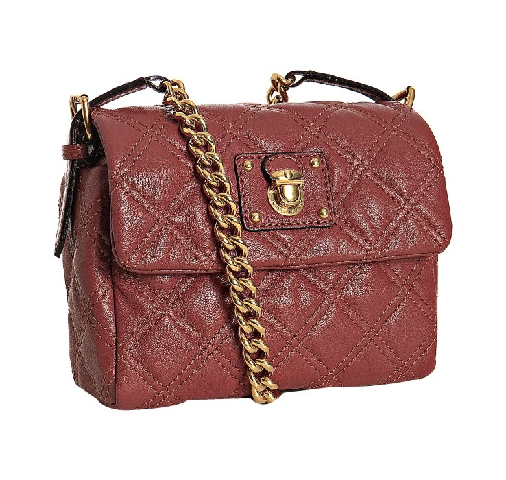 Lyst Marc Jacobs Rose Quilted Leather Debbie Crossbody