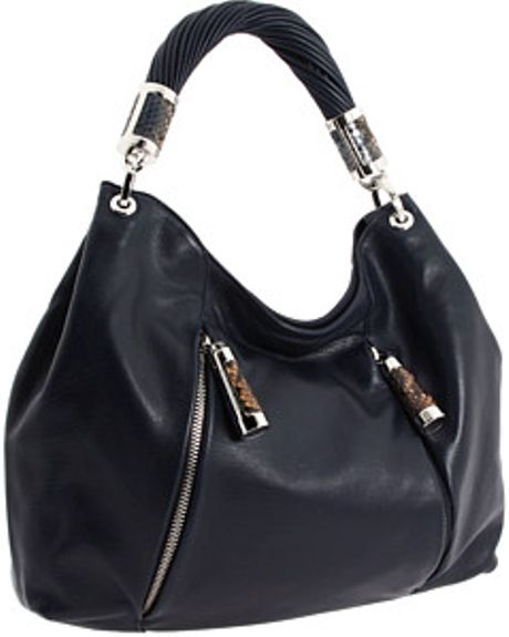 Inexpensive Michael Kors Tonne Totes - Bags Michael Kors Navy Tonne Hobo Blue