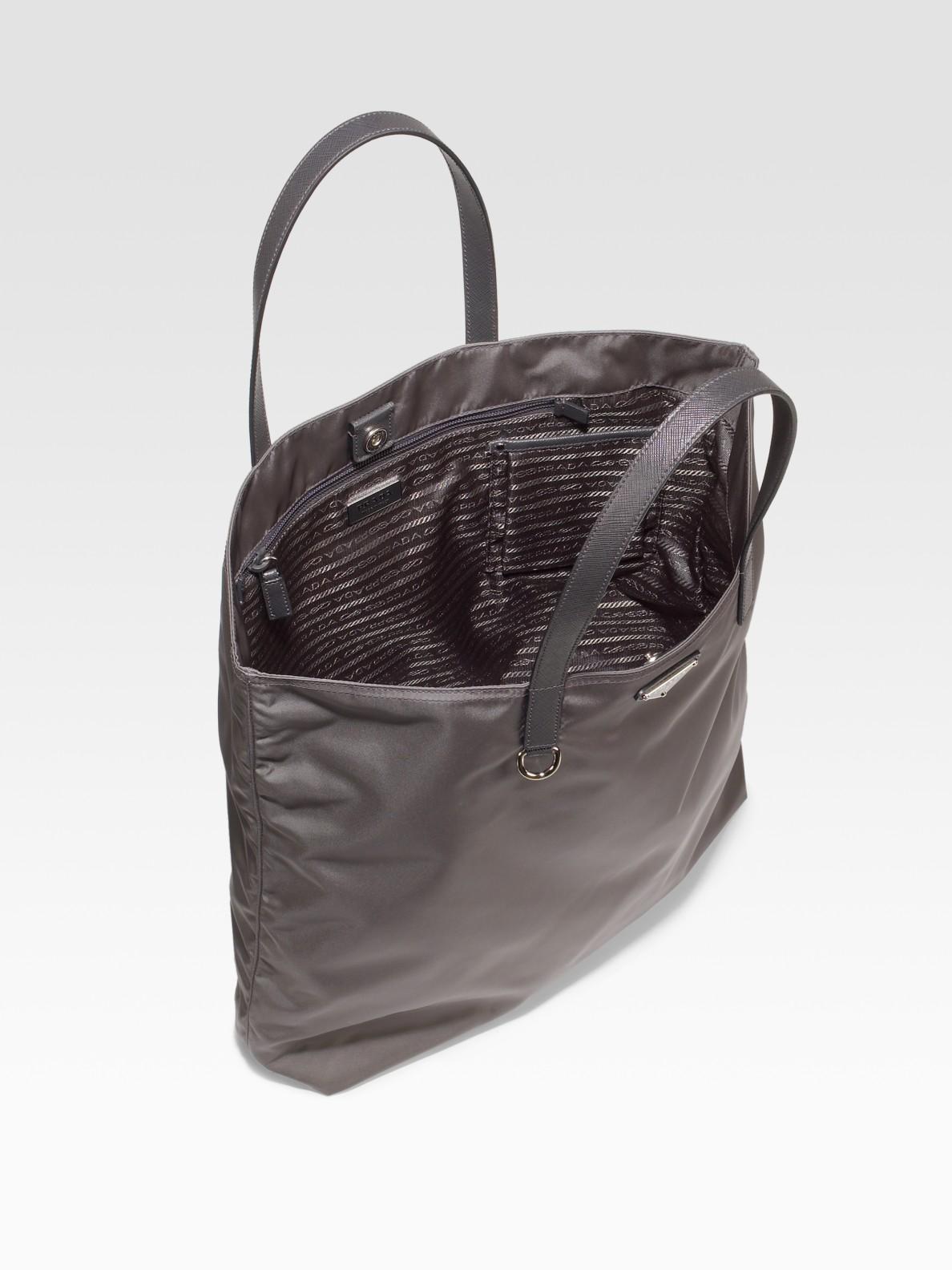 prada handbags leather - prada-grey-vela-nylon-tote-gray-product-2-455245-331940483.jpeg
