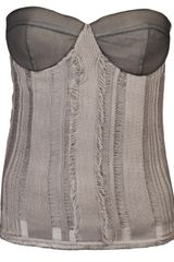Mirco Giovannini Corset in Gray (grey) - Lyst