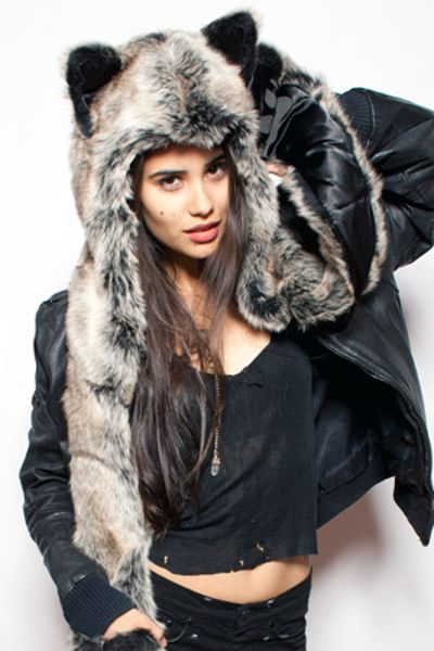 Spirit Hoods Wolf Hood in Gray - Lyst