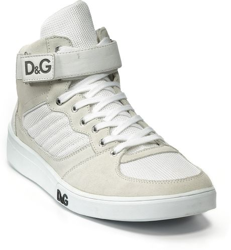 D&g High Top Strap Sneaker in White for Men