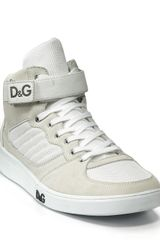 D&g High Top Strap Sneaker in White for Men - Lyst