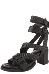 Alexander Wang Christy Braid-strap Sandal - Lyst