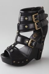 Ash Lyn Buckle Wedge Sandals - Lyst