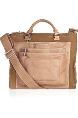 DKNY Leather and Cotton-canvas Tote - Lyst