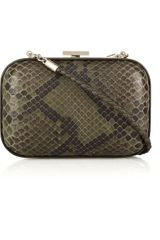 Gucci Broadway Python Box Clutch - Lyst
