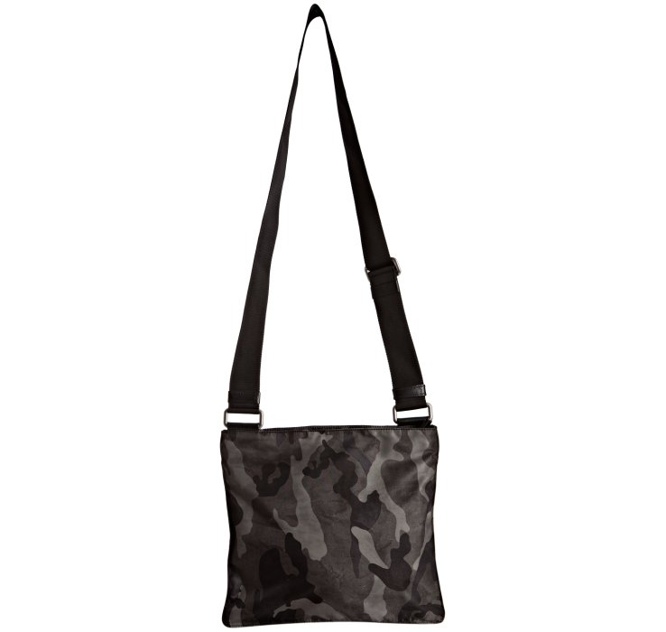 Prada Smoke Camouflage Nylon Messenger Bag in Gray for Men (smoke ...