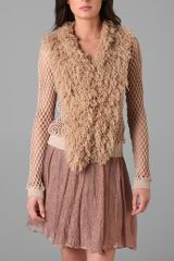 Rodarte x Opening Ceremony Hairy Collar Cardigan - Lyst