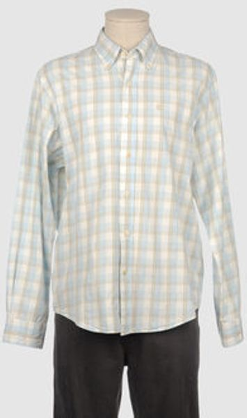 Timberland Long Sleeve Shirt in White for Men (sky) - Lyst