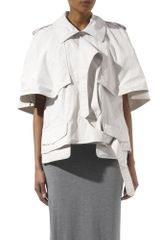 Alexander Wang Short Cape Jacket - Lyst