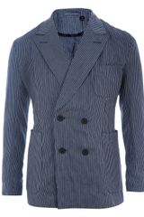 E. Tautz Double-breasted Pinstripe Jacket - Lyst