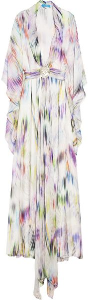 Matthew Williamson Escape Printed Silk Maxi Kaftan - Lyst