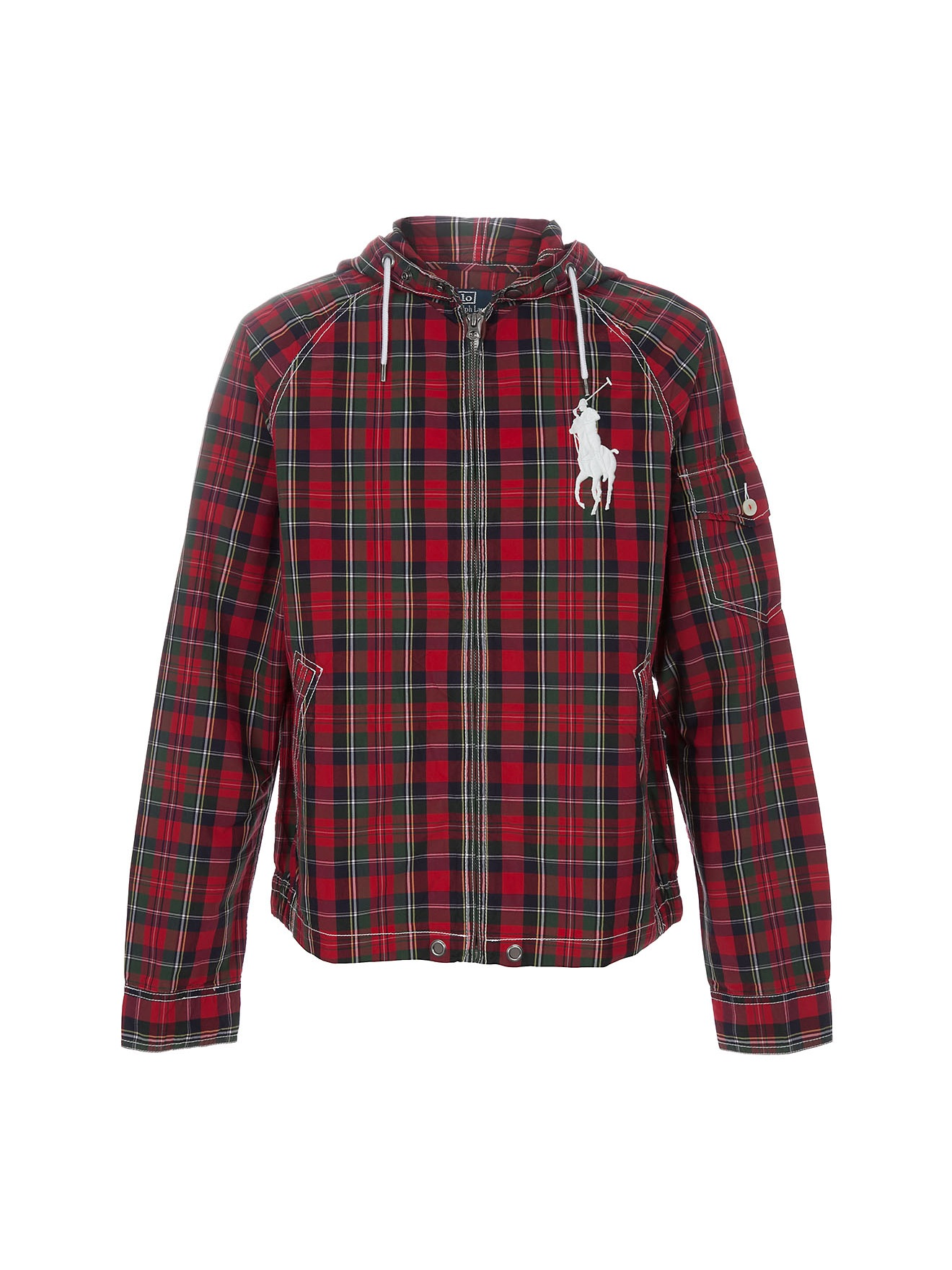 Polo Ralph Lauren Plaid Jacket In Red For Men Lyst