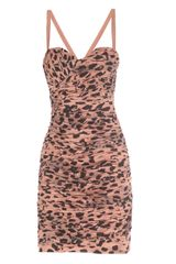 Twenty 8 Twelve Ruched Animal Print Dress - Lyst