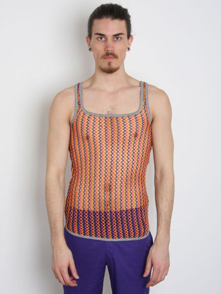 Bernhard willhelm knitted fox tank vest in multicolor for men multi lyst - Bernard wilhelm ...
