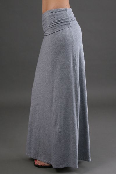 splendid maxi skirt in grey in gray grey lyst