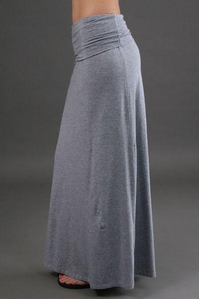splendid maxi skirt in grey in gray grey lyst