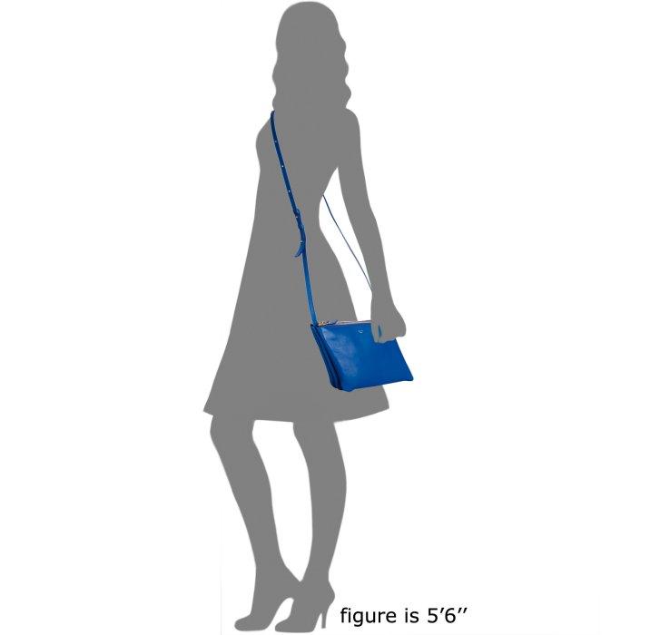 C¨¦line Royal Blue Lambskin Trio Crossbody Bag in Blue | Lyst