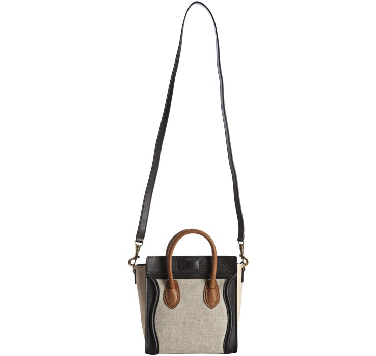 celine bags online shop - celine tote bag in lambskin and canvas, celine travel bag price