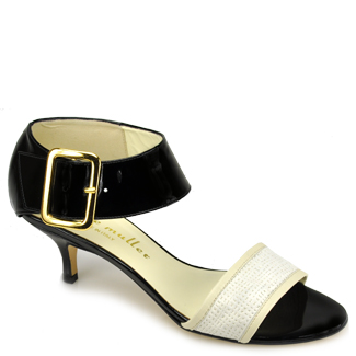 Bettye muller Escape - Black Kitten Heel Sandal in Black | Lyst