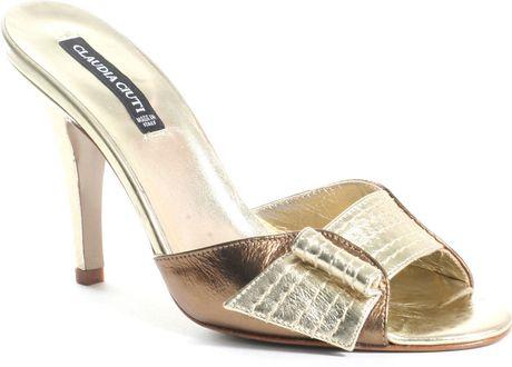 Claudia Ciuti Heller Slide in Gold (bronze)